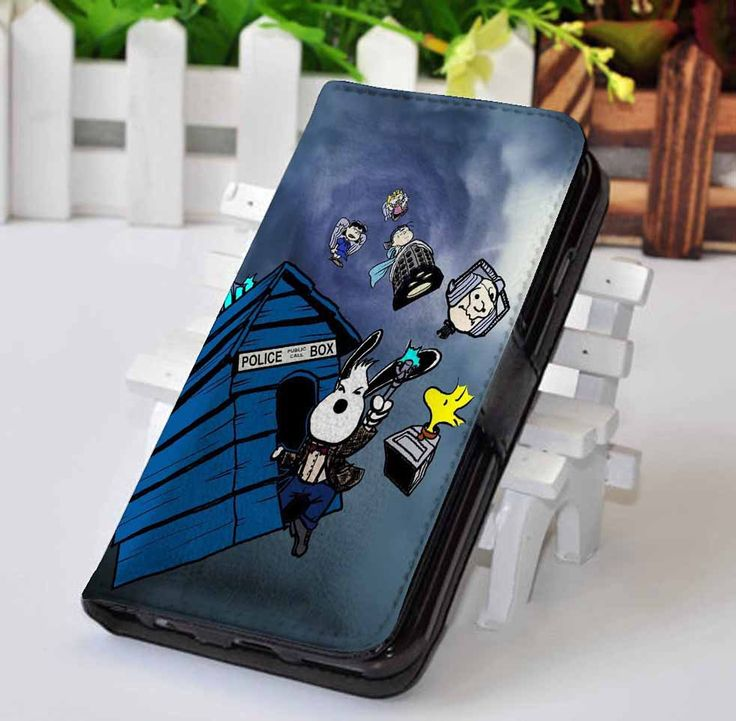 Snoopy Doctor Who | Comic | Movie | Custom wallet case for iphone 4,4s,5,5s,5c,6 and samsung galaxy s3,s4,s5 - LSNCONECALL.COM