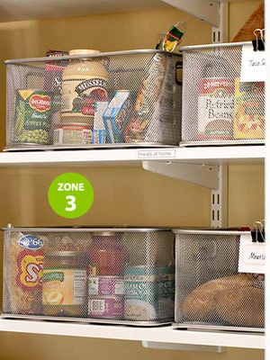 Recipe baskets for a stocked pantry