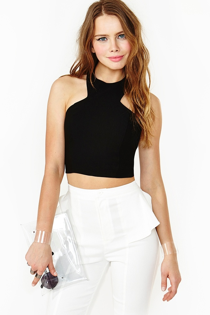 Sharp Angle Crop Top