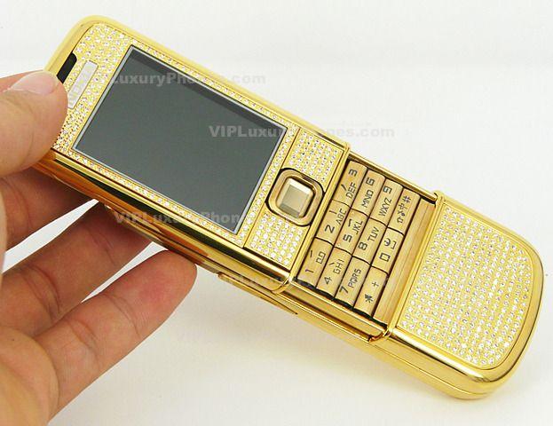 NOKIA 8800i Carbon Arte gold Cell phone