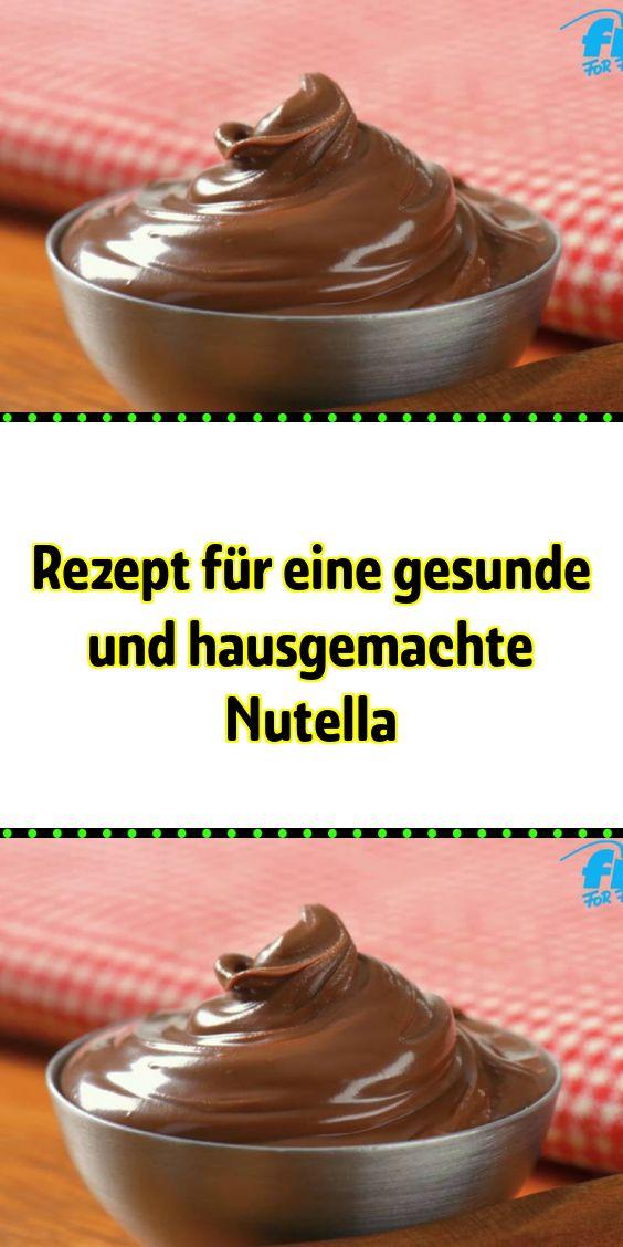 Rezept für eine gesunde und hausgemachte Nutella