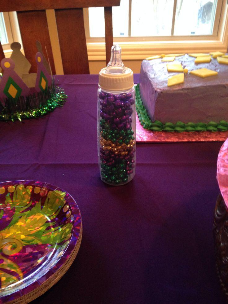 mardi gras themed baby shower