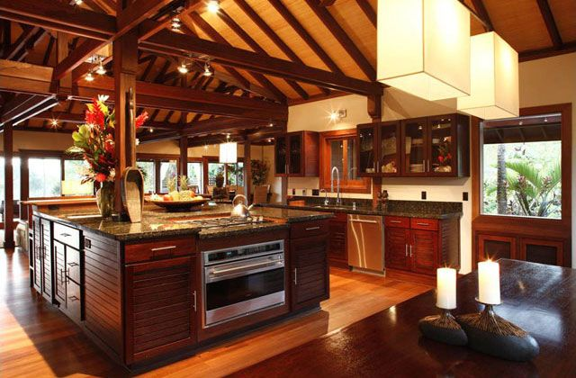 Beautiful warm kitchen