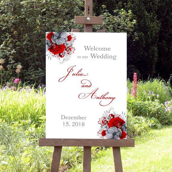 Willkommen zur Hochzeit, Digitales Hochzeitsschild, Willkommensschild, Druckbare… – Charme & Shine