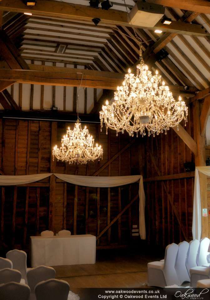95 best our work chandeliers images on pinterest chandelier giant crystal style chandeliers in the tythe barn at tewin for a gorgeous spring wedding mozeypictures Gallery
