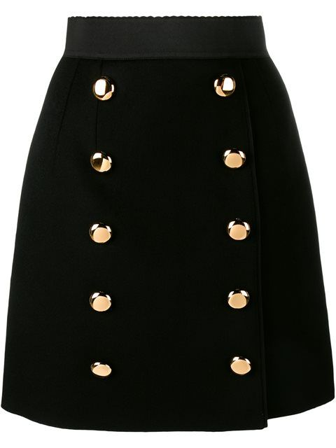 Shop Dolce & Gabbana buttoned A-line skirt in Browns from the world's best independent boutiques at farfetch.com. Shop 400 boutiques at one address.
