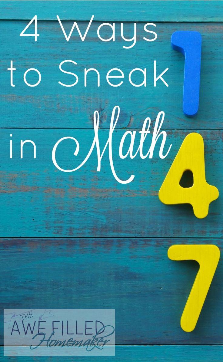 4 ways to sneak in math via @AFHomemaker