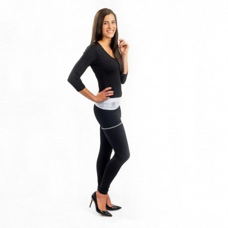Angelica Yoga Pants - Protection against harmful Electromagnetic Waves & Mobile ----- #OnyxPro ----- with EM Pro Shield function. Elastic yoga pants to protect inner organs & reproductive system from high frequency electromagnetic waves. Adjustable waist part. Make it longer for more protection or shorter for more fashionable look. Very good for pre-maternity period and first months of maternity. ----- #Shielding #strength: 50.7 dB @1 GHz (20% pure #silver content no nano silver used)…