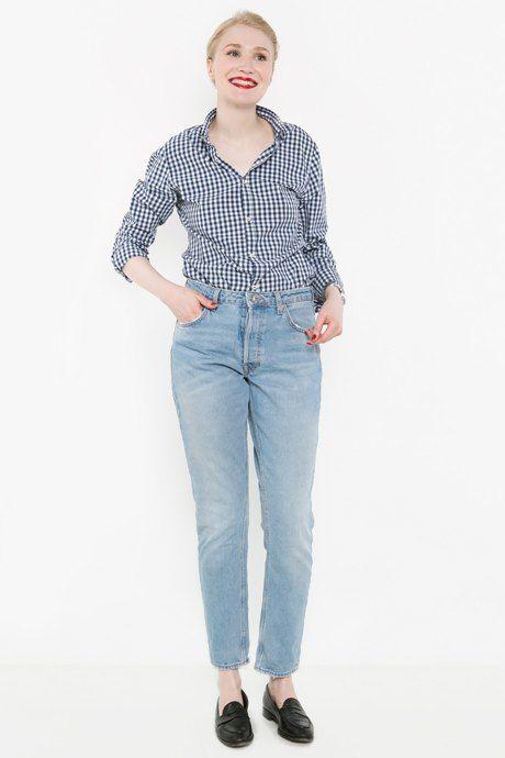 Рубашка и джинсы — Zara, лоферы Tod's