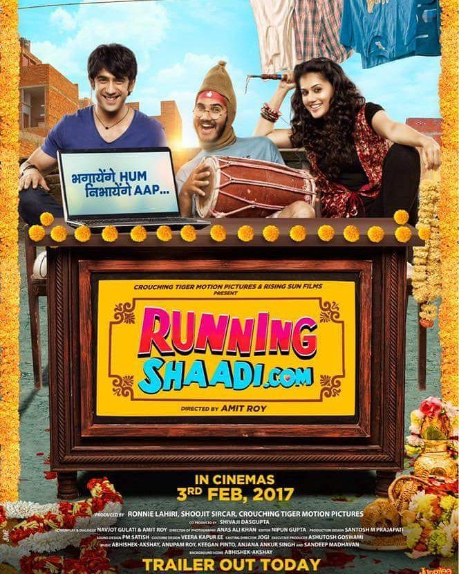 Bhagayenge Hum Nibhayenge Aap. Presenting the first look poster of 'Running Shaadi.Com' starring Amit Sadh amd Taapsee Pannu. Releasing on 3rd Feb 2017. @filmywave  #RunningShaadi #RunningShaadiDotCom#firstlook #poster #movieposter #firstlook #movie #film #celebrity #bollywood #bollywoodactress #bollywoodactor #bollywoodmovie #actor #actress #filmywave #AmitSadh #TaapseePannu