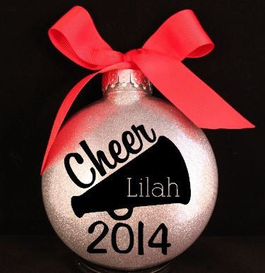 Cheerleader Megaphone Christmas Ornament by myposhcreations on Etsy https://www.etsy.com/listing/202777592/cheerleader-megaphone-christmas-ornament