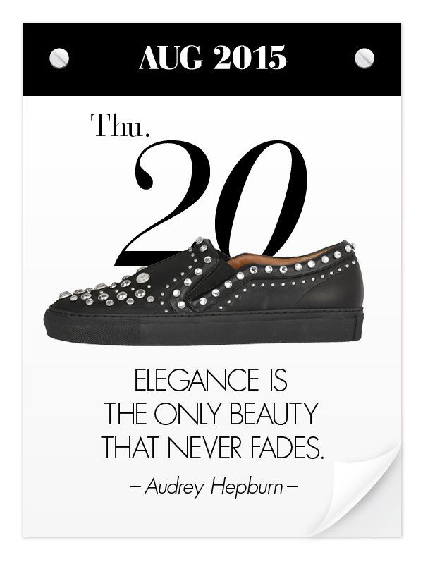 """心をおしゃれにする、31足&スタイル格言! 靴にまつわるデザイナーや著名人の名言を日めくりカレンダーでお届けする""""Everyday Shoes Calendar""""は、8月の1ヵ月、毎日更新中。"""