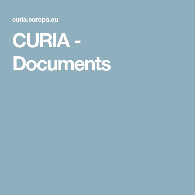 CURIA - Documents