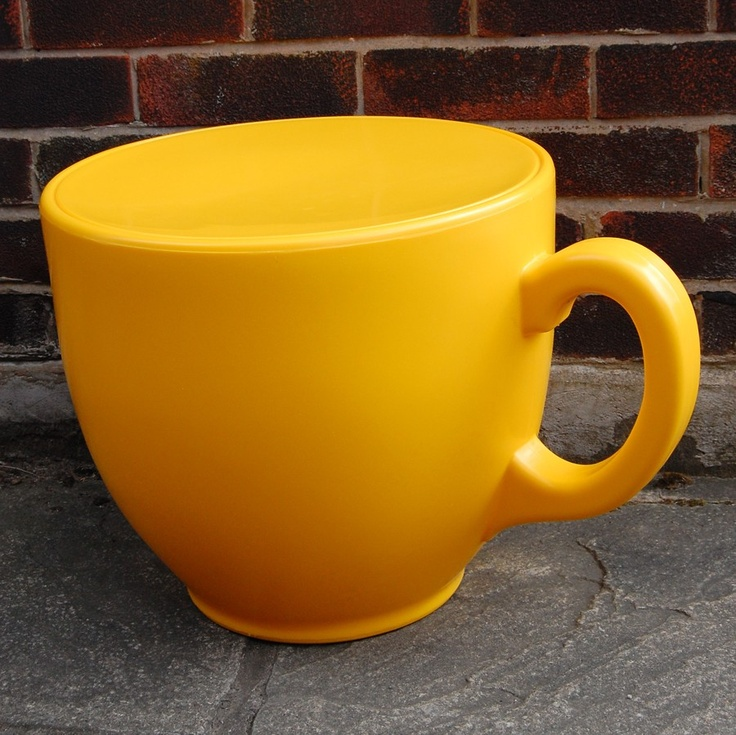 Tea Cup Stool - Yellow by Holly Palmer  £140
