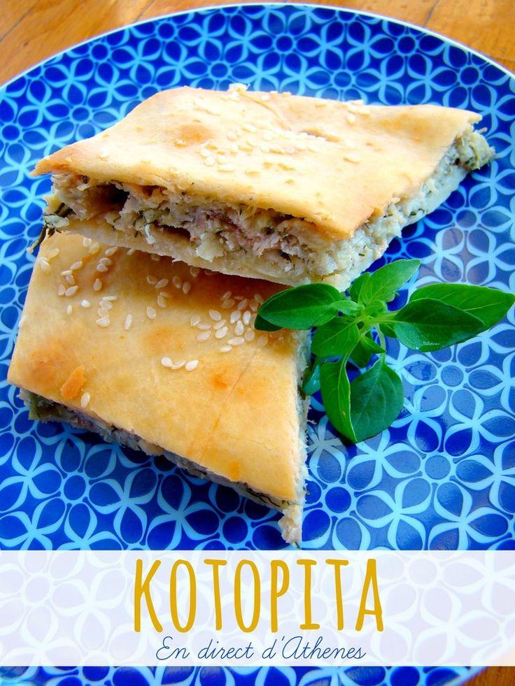 KOTOPITA - Chicken pie - Pita au poulet