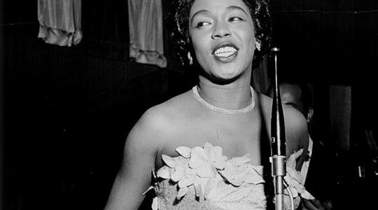"""When I sing, trouble can sit right on my shoulder and I don't even notice."" --Sarah Vaughan"