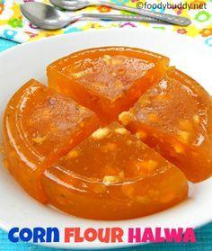 Bombay Halwa Recipe / Karachi Halwa / Corn flour halwa is a rich and yummy Indian dessert made with corn flour, sugar, nuts and ghee.