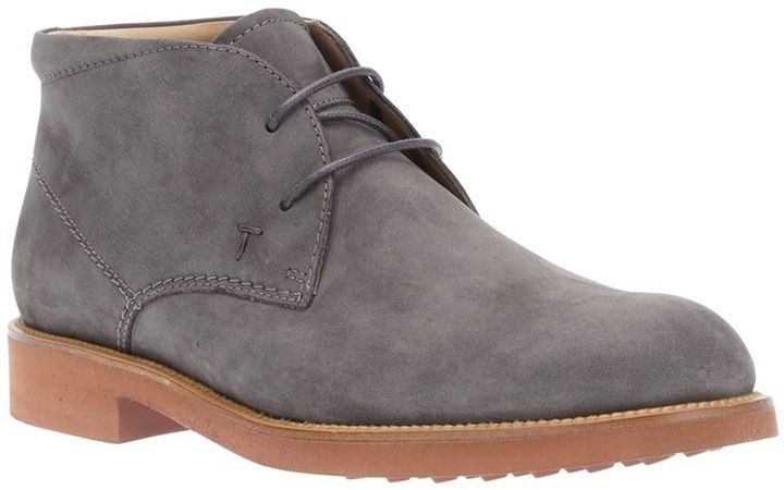 Grey Desert Boots by Tod's. Buy for $504 from farfetch.com