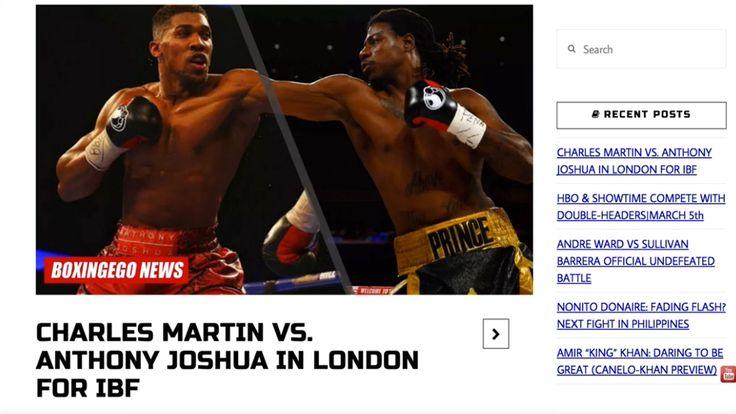 ANTHONY JOSHUA VS. CHARLES MARTIN FULL FIGHT OFFICIAL   IBF CHAMPIONSHIP...