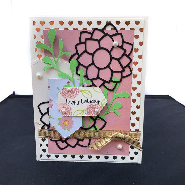 $5.99 Elegant Happy Birthday Cards, Handmade Birthday Card, Birthday Wishes For A Friend, Unique
