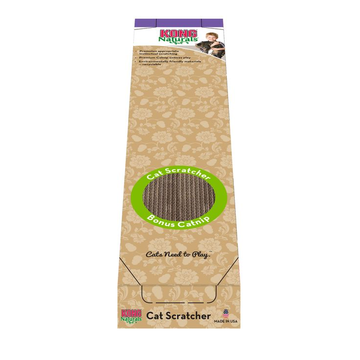 KONG NATURALS SCRATCHER SINGLE - KONG Naturals are ecologically responsible. All materials and dyes come from natural, renewable resources