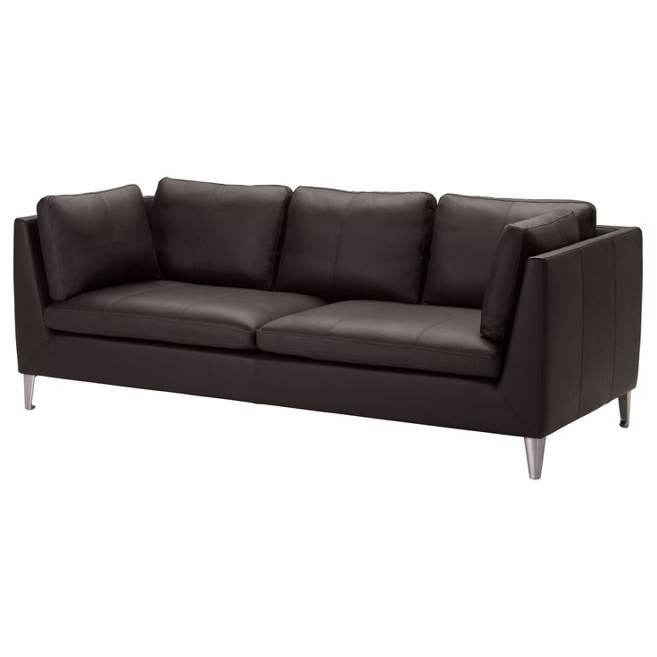 stockholm sofa seglora dark brown dark brown grains