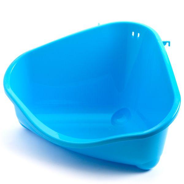 Модерна Угловой туалет малый голубой