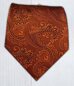Beautiful tie color for an Autumn wedding.     Twill Paisley - Burnt Orange || Ties - Wear Your Good Tie. Every Day - Twill Paisley - Burnt Orange Ties