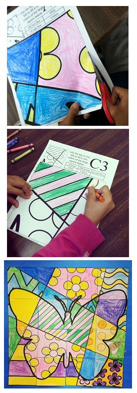 """Make a great """"pop art""""-inspired large classroom mosaic poster of a butterfly for Spring this year!"""