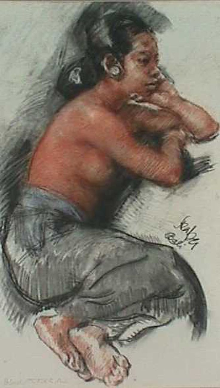Roland Srasser - Seated semi nude