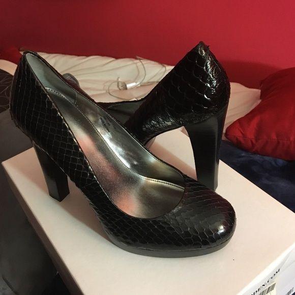 Black Calvin Klein pumps Used Black Calvin Klein pump. Good shape Calvin Klein Shoes Heels