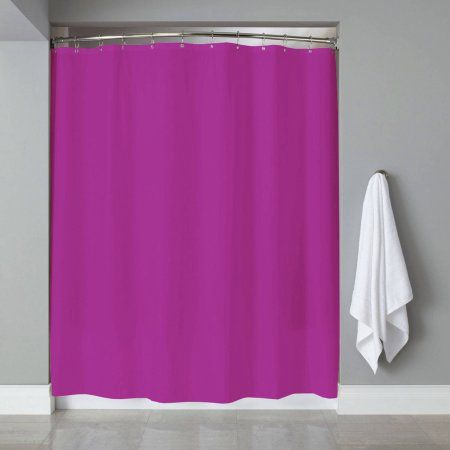 Shower Curtain Liner PVC Metal Grommets Magnets Neon, 70 inch x 72 inch, Purple