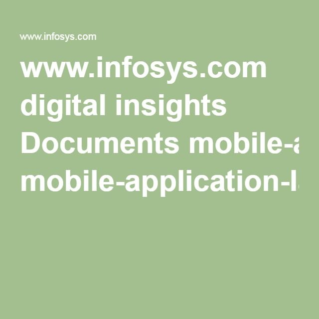 www.infosys.com digital insights Documents mobile-application-landscape.pdf