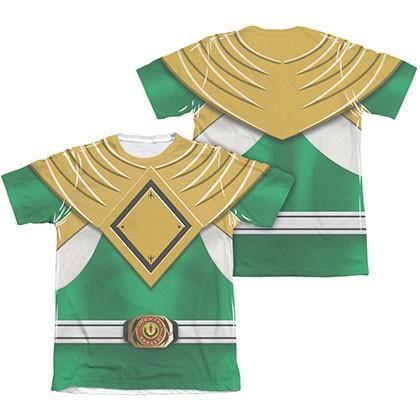 Power Rangers Emblem Costume Green Sublimation T-Shirt