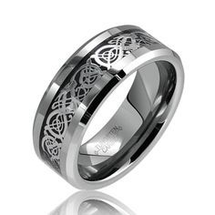 Mens Wedding Tungsten Bands Filigree In Middle Google Search