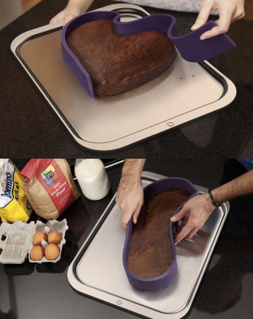bake any shape - silicone baking ribbonGood Ideas, Home Gadgets, Silicone Baking, Baking Pan, Baking Cake, Baking Ribbons, Silicone Moldings, Kitchens Gadgets, Cake Pans