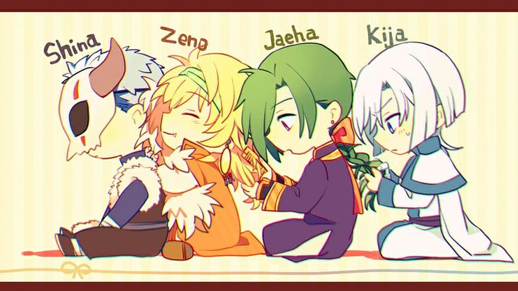 Akatsuki no yona. Chibi dragons playing with each other's hair :3