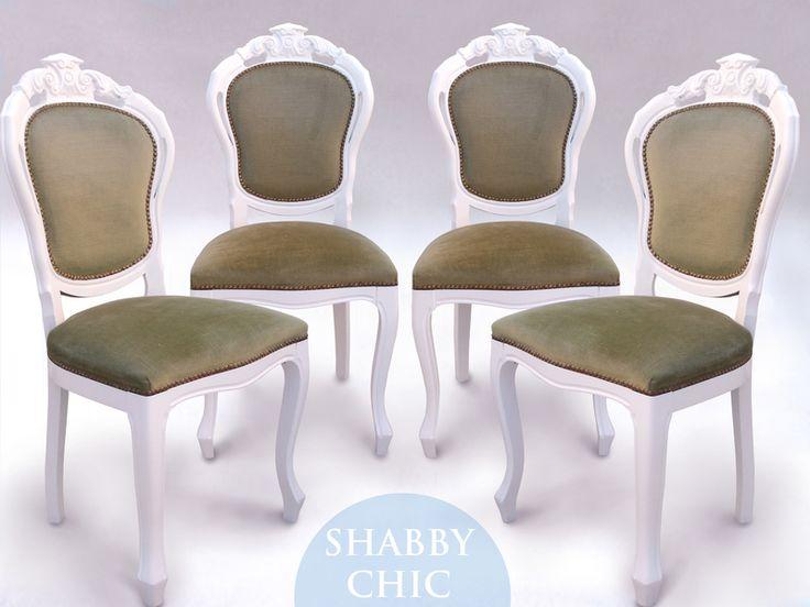 4 Chippendale Stühle von Anne´s Shabby Chic auf DaWanda.com