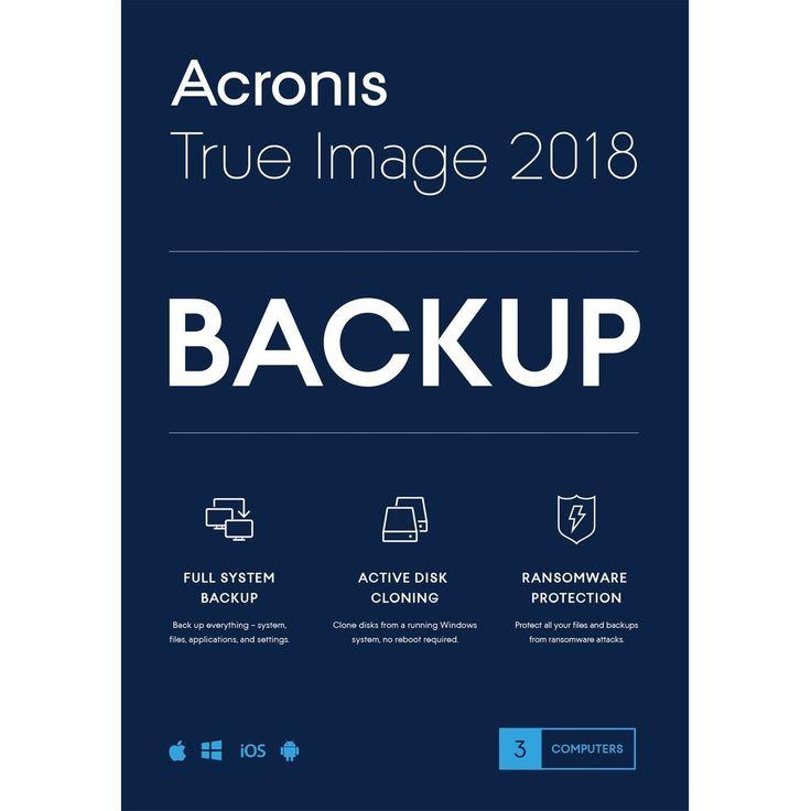 Acronis True Image 2018 3 Computers Win/Mac New - 817474011834