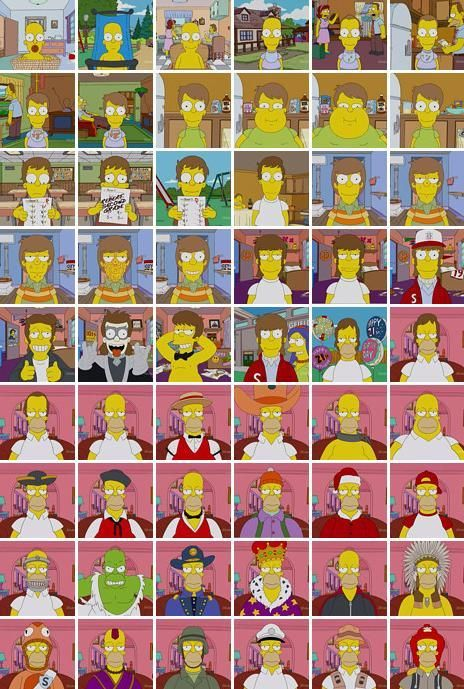 homers picture lifetime? or year? ohhh simpson refrence