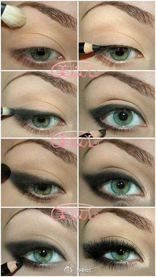 Ultimate Collection Of Eye Makeup Pics --- need to know how she got her eyelashes like that, omg.