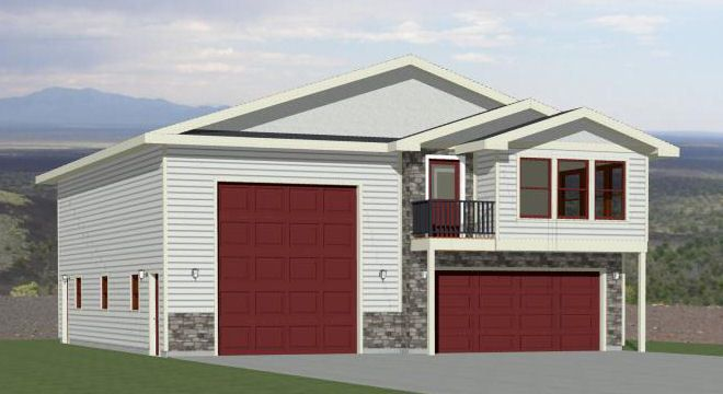 40x48 Apartment With 2 Car 1 Rv Garage Pdf Floorplan 1 410 Sqft Model 2 Floor Plans Garage House Plans House Plans