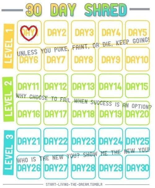 jillian michaels body shred calendar pdf