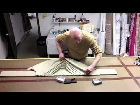 How To Pleat A Swag 1 - YouTube
