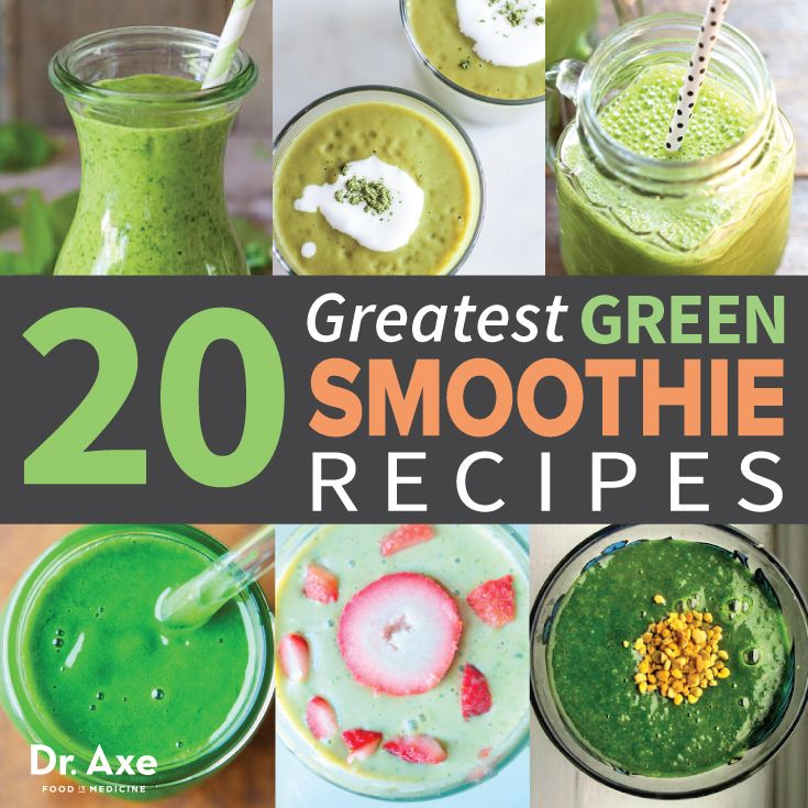 Greatest Green Smoothie Recipes http://www.draxe.com #health #holistic #natural