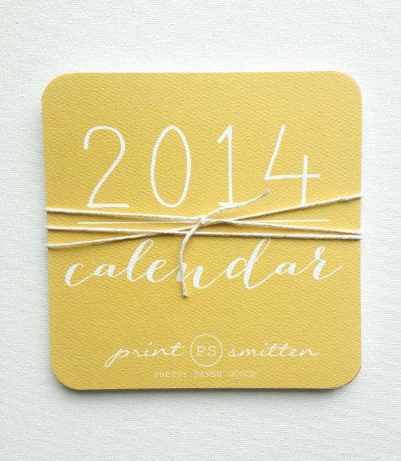 2014 Calendar // PrintSmitten
