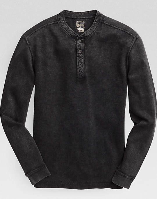 Pronto Blue Henley Shirt, Black
