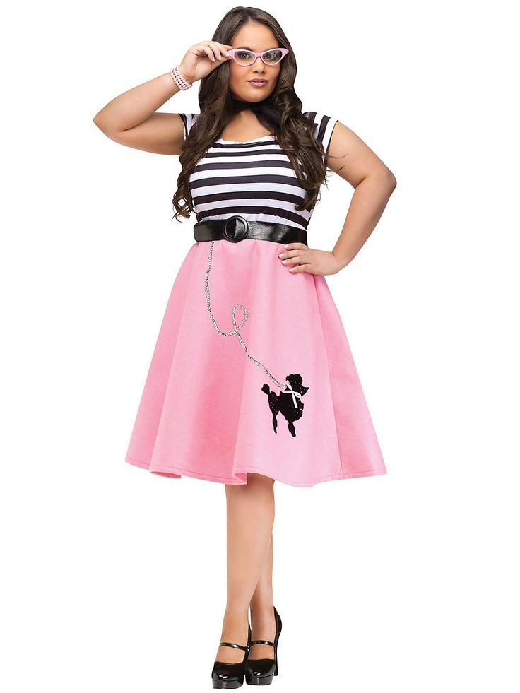 Plus Size Poodle Skirt Dress | Wholesale 50s Costumes for Adults