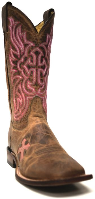 Tony Lama San Saba Womens Tan Saigets Worn Goat Cowboy Boot -- Don't forget to wear your cowboy boots this Thanksgiving holiday! | SouthTexasTack.com