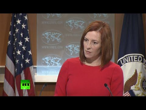 """▶US State Department spokesperson Jen Psaki has been caught on a hot mic calling one of her prepared statements about the acquittal of Egypt's ex-leader Hosni Mubarak """"ridiculous."""""""